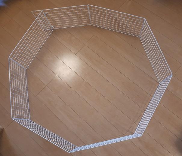 部屋んぽ用柵を自作
